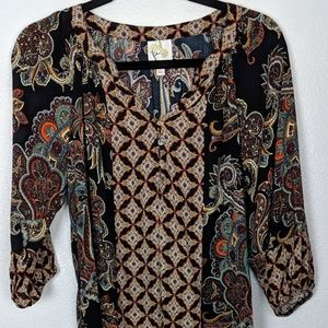 Anthropologie Fig and Flower boho top . Small